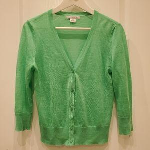 Liz Claiborne Mint Green Lightweight Cardigan S